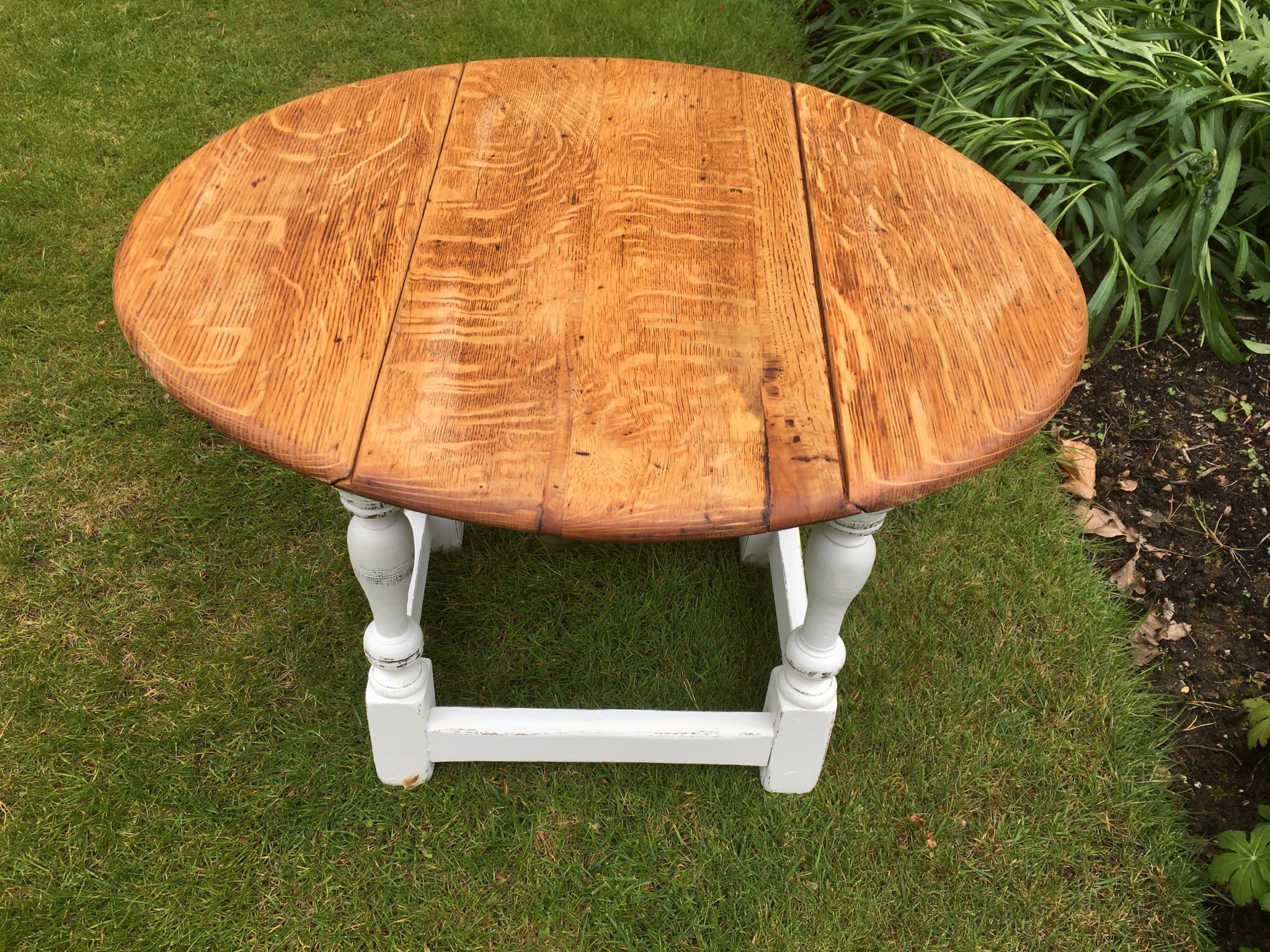 Hand painted vintage drop leaf coffee table May Louise Interiors