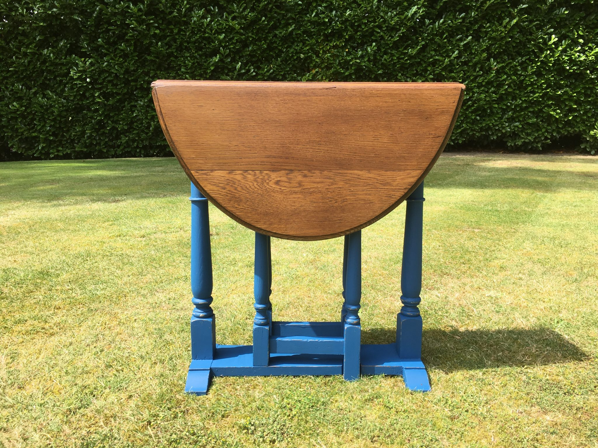 Phenomenal Vintage Solid Oak Drop Leaf Side Lamp Table Squirreltailoven Fun Painted Chair Ideas Images Squirreltailovenorg