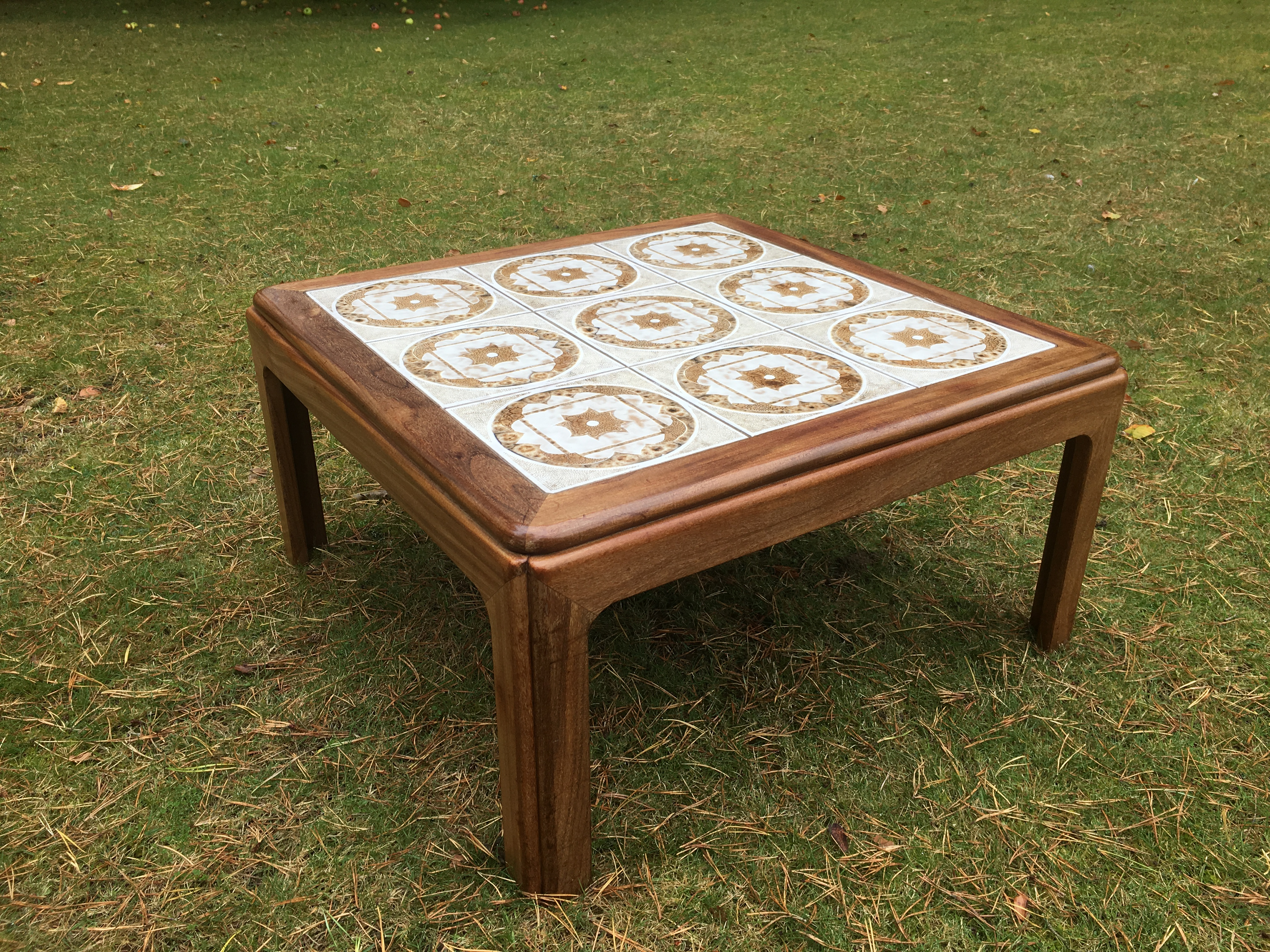 G Plan Vintage Teak Square Coffee Table With Tiled Top May